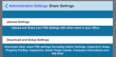 PIM Upload Settings