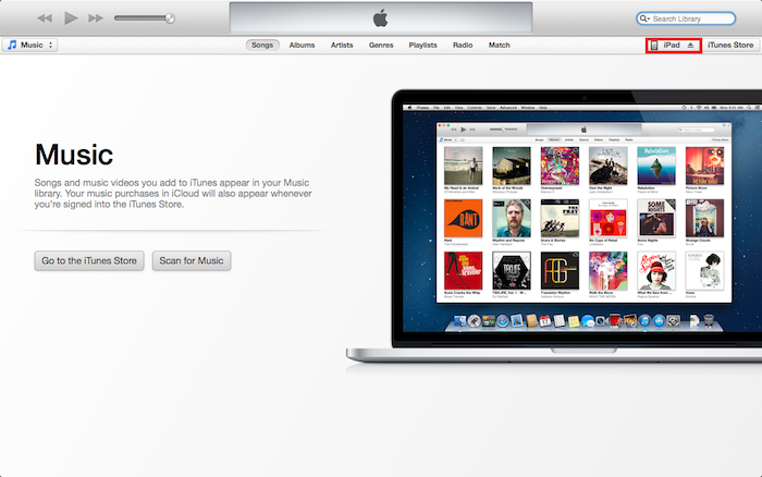 iTunes v11 File Sharing Screen