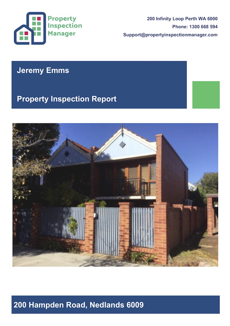 Routine Inspection Report with Front Cover Page
