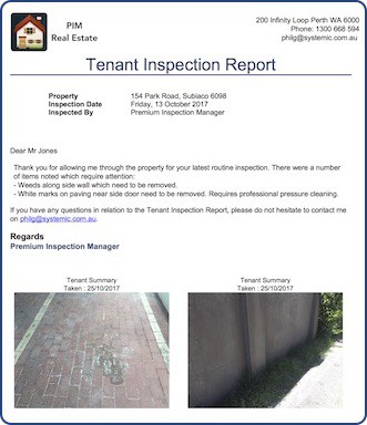 Tenant Inspection Reports