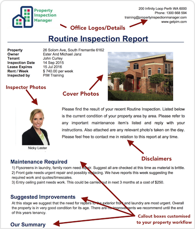 PIM Custom Inspection Reports